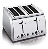 Krups KH251D51 Stainless Steel Toaster with 6 Adjustable browning settings, 4-Slice, Silver
