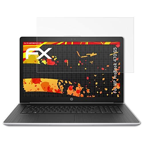 atFolix Schutzfolie kompatibel mit HP ProBook 470 G5 Bildschirmschutzfolie, HD-Entspiegelung FX Folie (2X)