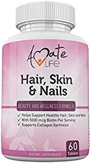 Hair Skin and Nails Vitamins Complex- 5000 mcg Biotin Vitamins for hair skin and nails- Hair Vitamins for Faster Hair Grow...