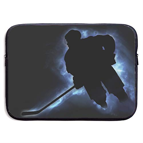 Waterproof Laptop Sleeve 13 Inch, Ice Hockey Print Business Briefcase Protective Bag, Computer Case Cover for Ultrabook, MacBook Pro, MacBook Air, Asus, Samsung, Sony, Notebook