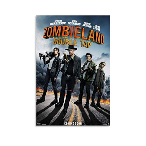 YANDING Zombieland Filmposter, Leinwand-Kunst-Poster und Wandkunstdruck, modernes Familienschlafzimmer, 30 x 45 cm