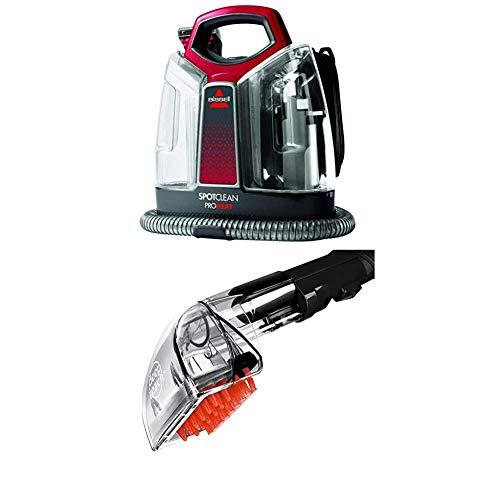 BISSELL 36988 SpotClean ProHeat Flecken-Reinigungsgerät + Tiefenreinigungs-Aufsatz für alle Bissell Flecken-und Teppichreinigungsgeräte