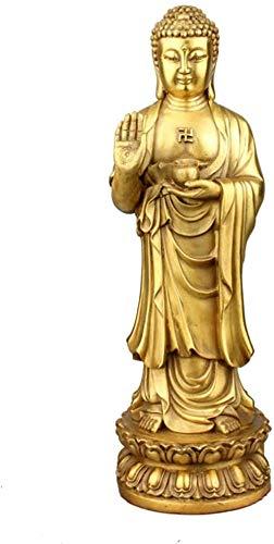 GHFT Estatuilla Escultura decoracin Estatua Gato latn Buda Disfraz Escultura Budista