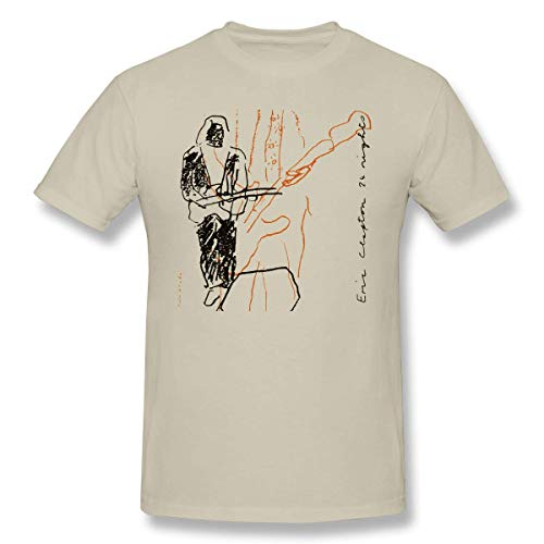 HAIZHENY Hombre/Men's Eric Clapton 24 Nights Classic Natural Camiseta/T Shirt