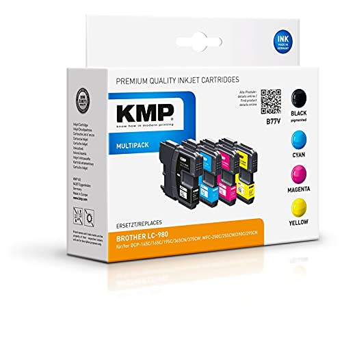KMP B77V Promo Pack BK/C/M/Y Compatible w. Brother LC-980 Marca KMP