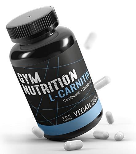 L - CARNITIN Kapseln ultra hochdosiert 3000 L Carnitin Carnipure® LONZA Qualität - Extrem Beliebt bei Sportlern- Laborgeprüft vegan - ohne Zusätze 100 Kapseln Made in Germany