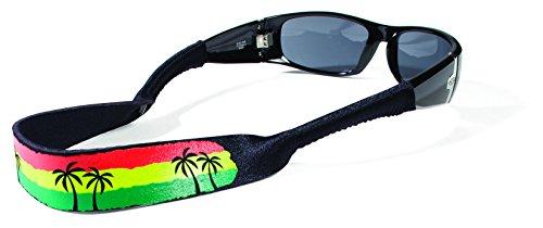 Croakies XL Gafas retenedor, Color Rasta Beach Palms, tamaño 1 Pack XL