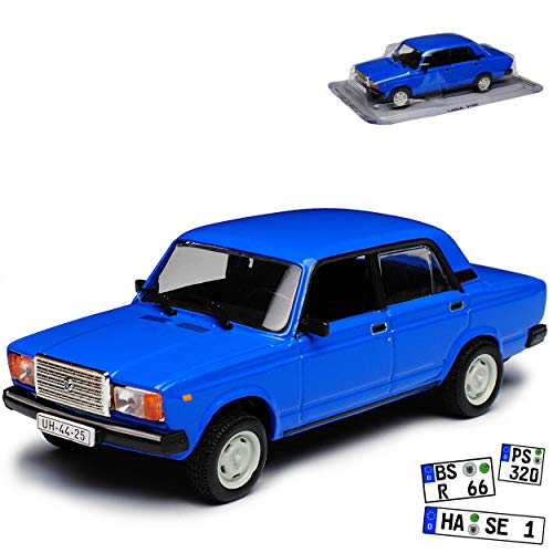 Unbekannt Lada 2107 Nova Riva WAS-2107 Limousine Blau 1979-2012 1/43 Modellcarsonline Modell Auto Modellcarsonline Modell Auto
