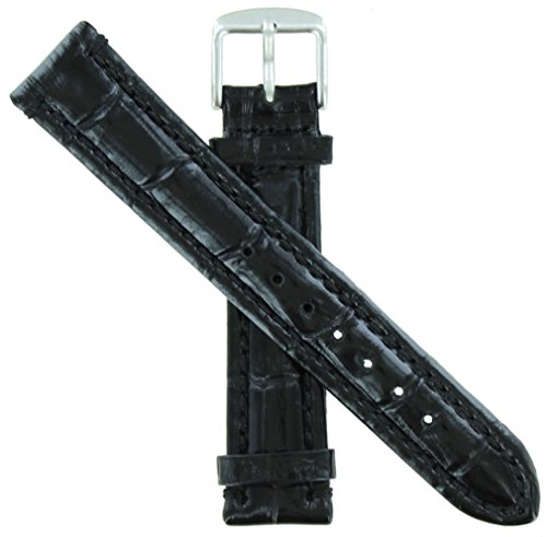 WBHQ 22mm Black 451 Emperator Chrono Watch band Long Length