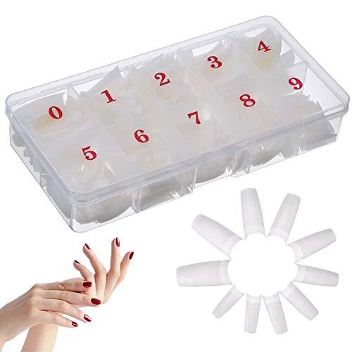 500 Stücke Falsche Nägel, Natürliche Französisch Nail Künstliche Fingernägel Nagelspitzen False Nail Tips DIY Nagelkunst für Frauen Mädchen