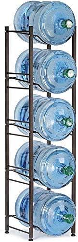 Water free Jug Rack 5 Tier Storage Award-winning store Holder for Bottles Gallon
