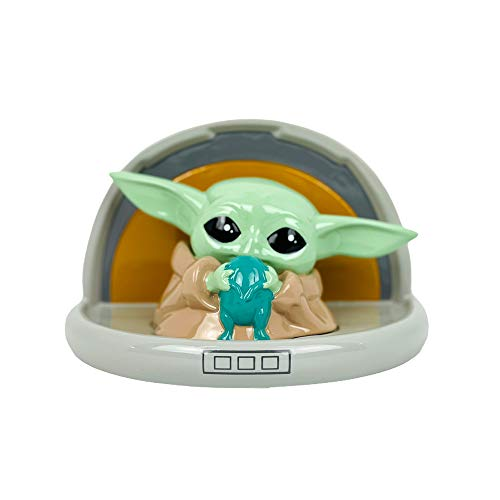 """Star Wars Mandalorian Baby Yoda Piggy Bank for Boys and Girls, Large """"The Child"""" Coin Bank"""