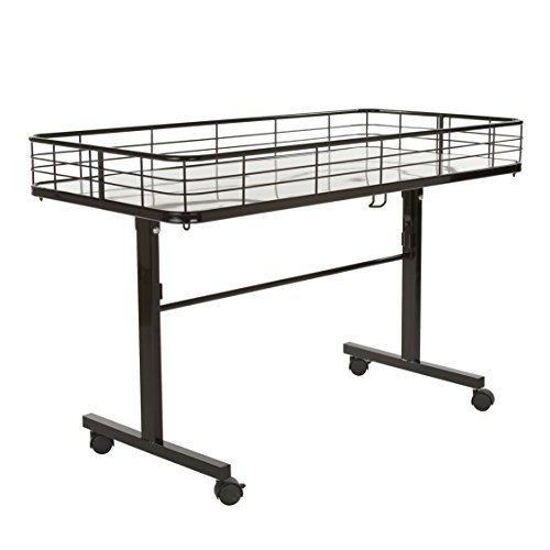 Econoco Commercial Folding Dump Table, Black, One Size (DT48/B)