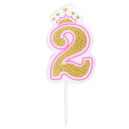 Lantro JS Candela di Compleanno, Candele di Numeri, Candele di Torta, Numero per la Festa a Tema di Celebrazione(2)