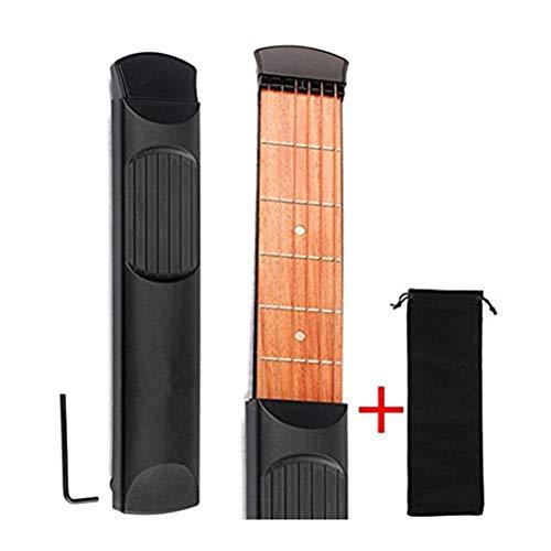 Yissma Pocket Gitarre Holz Tasche tragbar Akustik Gitarre Praxis Werkzeug Gadget Chord Trainer für Anfänger