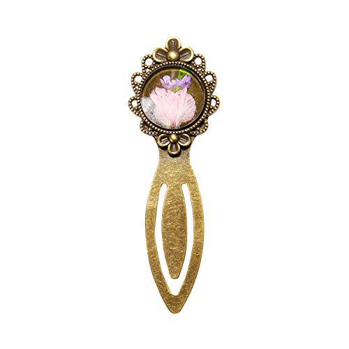 ElfElfElf ELF1015 Regalo Ideale Segnalibro Fatto a Mano con Vero Fiore Secco Rosa 1