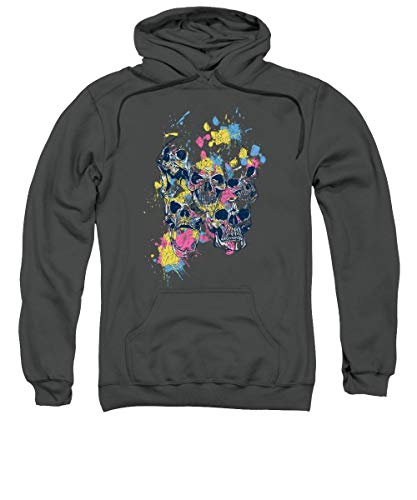 Skulls and Watercolor Spashes Sweatshirt - Hoodie For Men and Woman.
