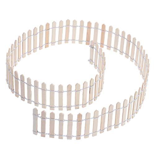 takestop® mini hek, decoratief, van hout, 90 x 5 cm, rand voor tuin en tuin