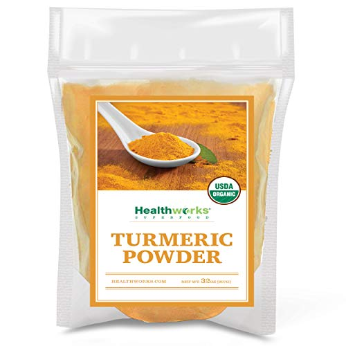 Healthworks Turmeric Powder | Ground Raw Organic | Curcumin & Antioxidants | Keto, Paleo, Vegan, Non-GMO | Anti-Inflammatory