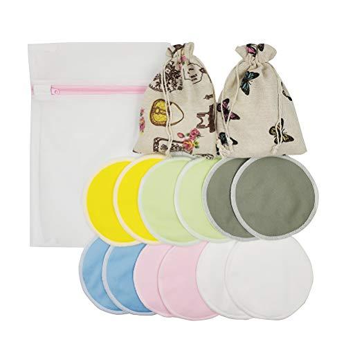 Toyvian Almohadillas de lactancia reutilizables Almohadillas de alimentación a prueba de fugas...