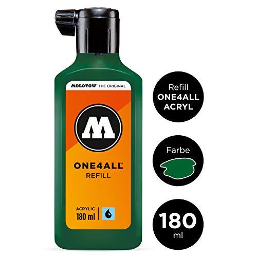 Molotow ONE4ALL Refill Acryl (Nachfülltinte für Permanentmarker, 1 Stück à 180 ml) Farbe 096 mister green