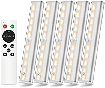 5-Pack Szokled Wireless LED Under Cabinet Lighting
