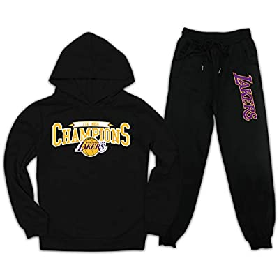 Los-Angeles-Lakers Children's Clothing Hoodie Sweater Suit Beam feet Trousers
