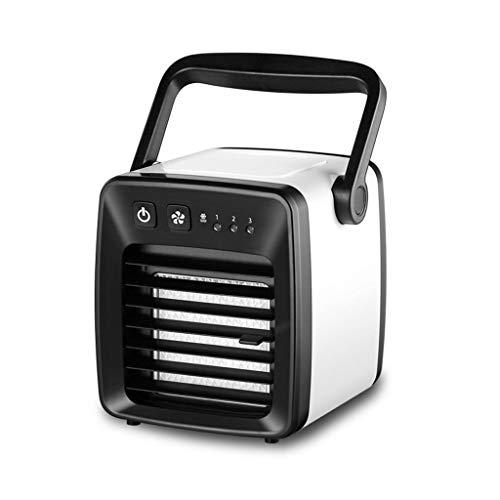 BYTGK oplaadbare mini-USB-handventilator met 3 snelheden voor reizen, vissen, kamperen zwart