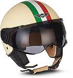 Moto Helmets® H44 'Camuflaje' Casco Jet, casco de moto, scooter, ciclomotor, Bobber, Chopper, casco...