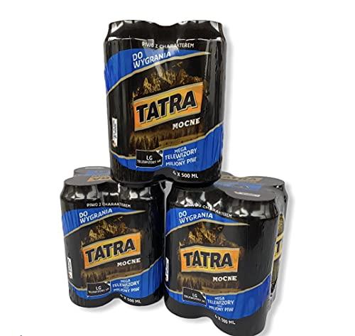 Tatra Starkbier mit 7% Alc. aus Polen helles Bock Bier, erhältlich als 12 und 24 Dosen (12)