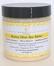 Best Honey Shea Spa Butter - Natural Moisturizing Cream – Shea Butter – Babassu Butter – Manuka Honey – Argan Oil – Almond Oil – Vitamin E and Vitamin C – Face Body Nourishing Treatment