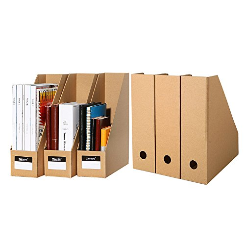 TIANSE 6 Pack File Magazine Organizer Box bancari per archiviazione desktop in Office Home