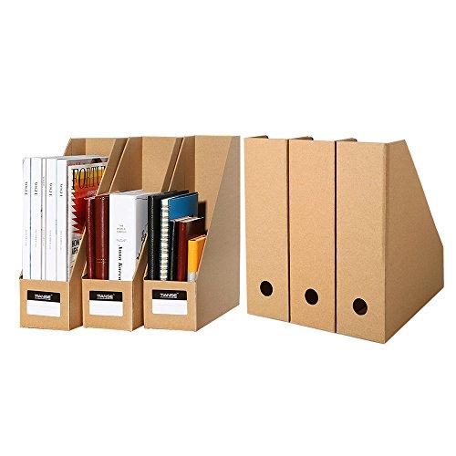 TIANSE Set de archivador de Papel – 6 unidades – El perfecto organizador de papeles para periódicos, revistas –...