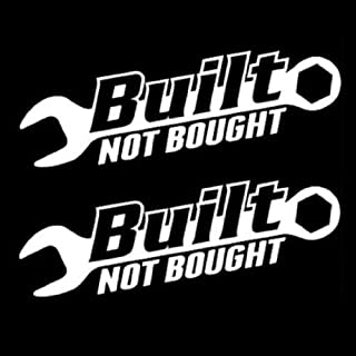 iJDMTOY (2 JDM Euro Cool Built Not Bought Drift Racing Turbo Racer Style Car Window Bumper Vinyl Decal Stickers