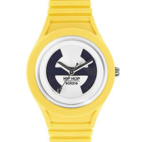 Hip Hop Watches - Orologio da Donna Aspen Gold HWU0534 - Collezione Solare - Cinturino in Silicone - Impermeabile 5 ATM - Cassa 34mm - Giallo