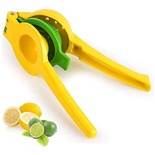 Exprimidor de limón de metal de alta calidad, exprimidor manual de cítricos, 2 en 1, diseño robusto para extraer jugos