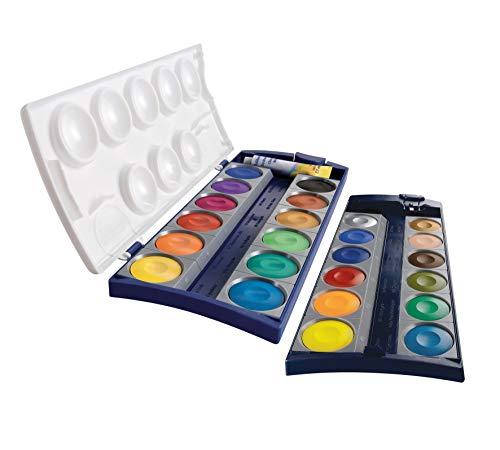 Pelikan 2056062 720631 Deckfarbkasten K24, 24 Qualitätsfarben und 1 Tube Deckweiß (7,5 ml), nach DIN 5023