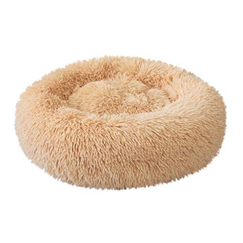 Kolylong® Haustierbett für Katzen und Hunde Rundes Plüsch Weich Runden Katze Schlafen Bett Hundebett Katzenbett Hundesofa Hundedecke Haustierbett in Doughnut-Form Farbe und Größe Optional