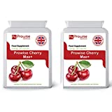 Prowise Cherry Max 750mg 90 Capsules - High Strength Freeze Dried Montmorency Cherries - UK Manufactured to GMP for Consistent High Quality - Suitable for vegetarians & vegans (Pack of 2) by Prowise Healthcare