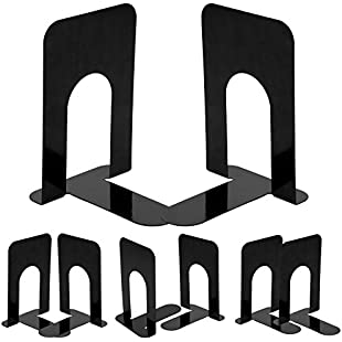 AllRight Book End Heavy Duty Metal Library School Office Home Study Metal Bookends 4 Pairs