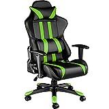 TecTake 800295 Bürostuhl Racing Gaming Stuhl ergonomisch mit Armlehnen inkl. Lordosenstütze und...