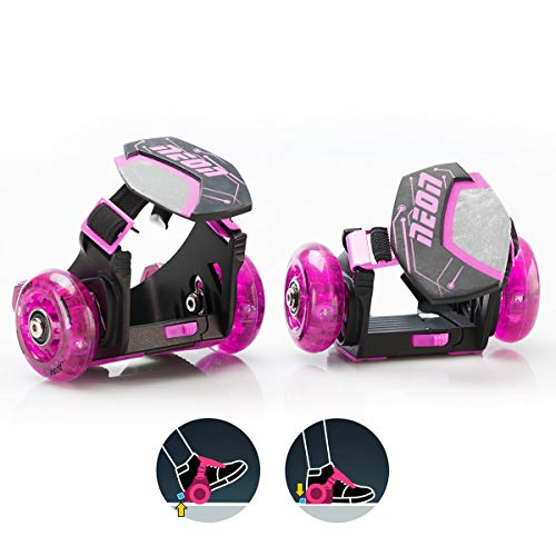 Yvolution Neon Street Rollers - Pop N' Lock - Clip on Skates (Pink)