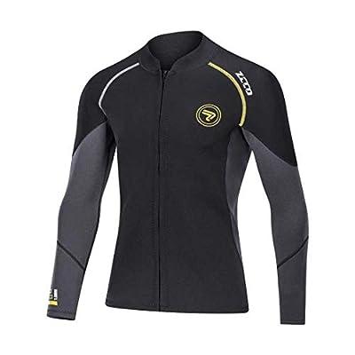 Wetsuit Top Men's 1.5mm Neoprene Wetsuits Jacket,Front Zipper Long Sleeves Diving Suit for Swimming,Snorkeling,Scuba Diving,Surfing