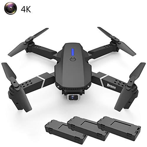 APJS RC-Drohne FPV Quadcopter Drohnen mit 4K Ultra HD Kamera für Kurze Videos mit Weitwinkel Shots 2.4 Ghz WiFi FPV 45 Minuten Flugzeit Halten Höhe Headless Mode Drone für Erwachsene,Schwarz