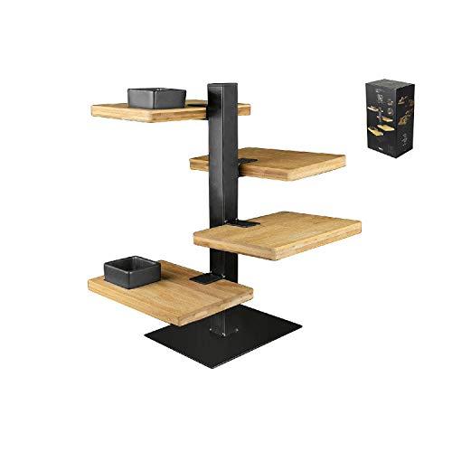 Gusta Etagere 4-stöckig Holz-Metall 19,5x14,5x36cm (1 Stück), 1149290