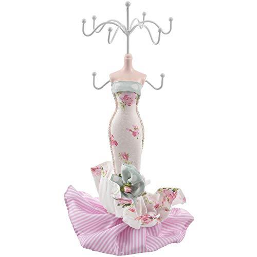 RETYLY Mermaid Dame Mannequin Schmuck Baum Sitz Anzeigen Halter Bogen w/floral Drucken