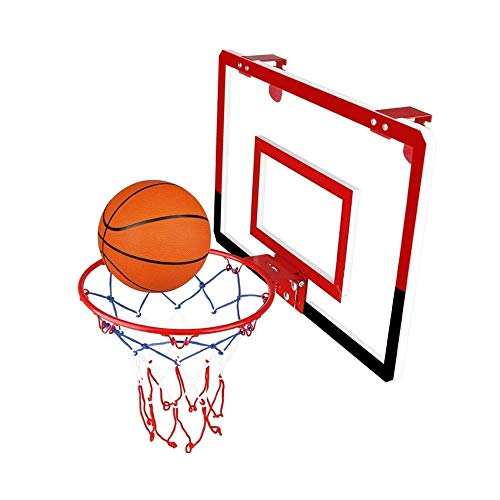 SMLZV Basketball Wandmontage Boards, Portable Kinder Basketballkorb, Indoor- und Outdoor-Basketball-Racks, PVC transparente Platte, for Kinder-Basketball-Spiele (Color : Red)
