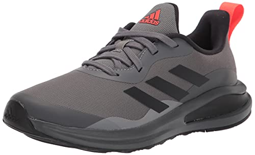 adidas Fortarun Running Shoe, Grey/Black/Grey, 5 US Unisex Big Kid