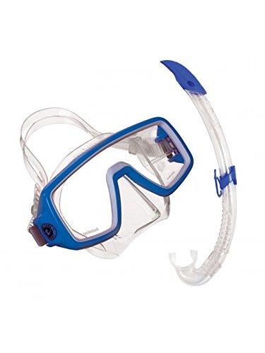 Aqua Lung Planet LX/Airflex LX - Gafas de Buceo y Tubo para práctica de Snorkel (Color Azul, tamaño único)