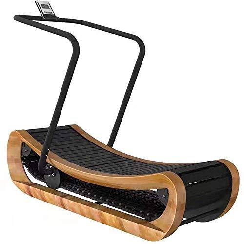 Nicht angetriebenes Laufband Hölzernes gebogenes Laufband Kommerzielles Fitnessstudio Konkav gebogenes hölzernes Laufband Fettverbrennung